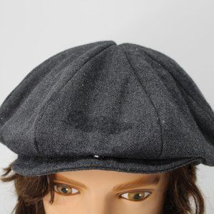 Armani Exchange Snap Brim Gray Derby Cap Hat S/M